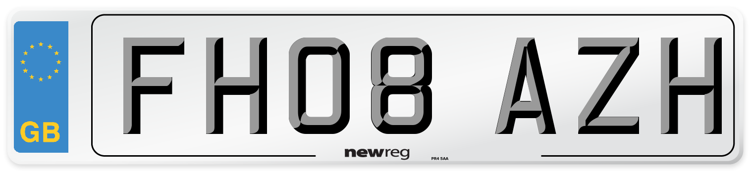 FH08 AZH Number Plate from New Reg